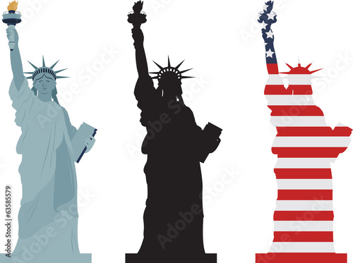 Fotomural Statue of Liberty, vector