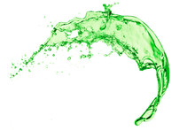 Green Liquid Splash