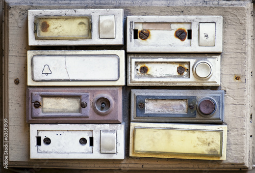 Photo  old bell buttons