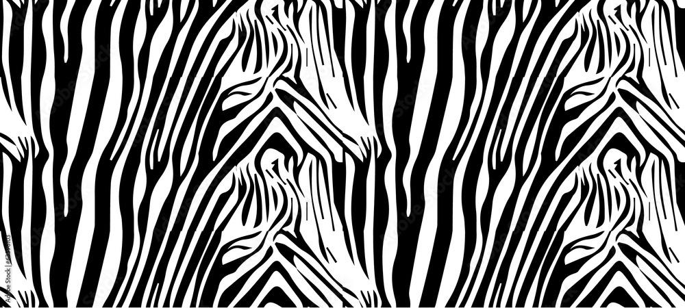 Fototapety, obrazy: Seamless zebra pattern