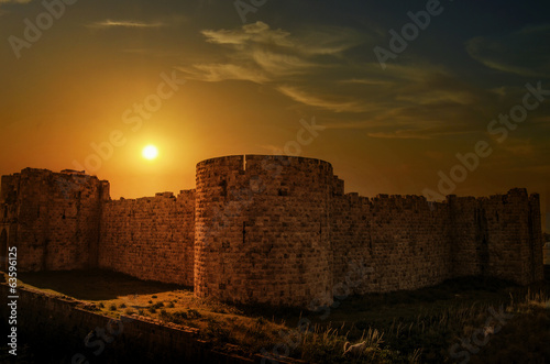 Poster de jardin Fortification The Sundown Castle