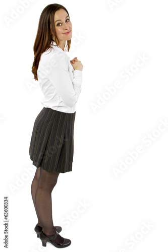 Fotografie, Obraz  young flattered businesswoman or student with gesture