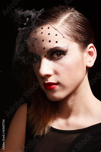 Papiers peints Glamor woman dark face portrait, beautiful female