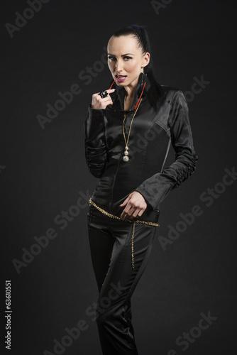 Pretty black leather