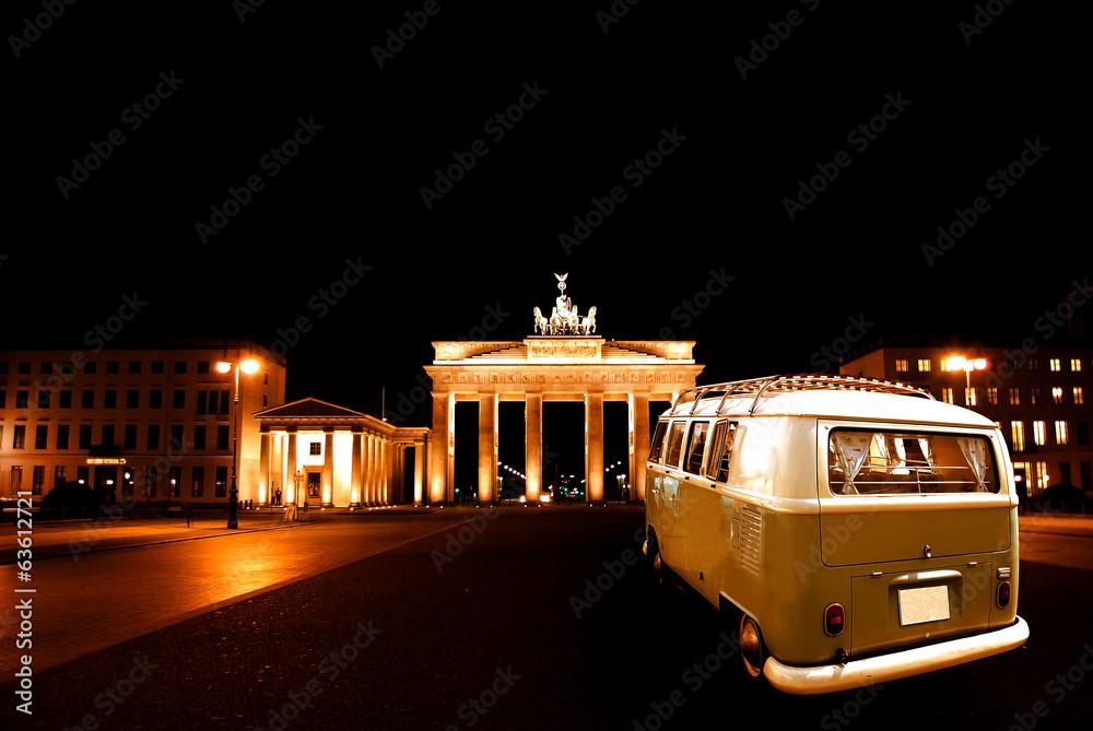 Fotografie, Obraz Berliner Bulli