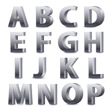Big Silver Letters Standing