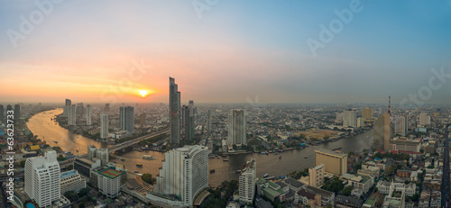Bangkok Panorama with sunset