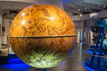 Celestial Globe In The Museum Of The Moscow Planetarium, Russia