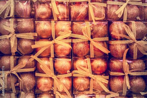 Deurstickers Leder Christmas balls.