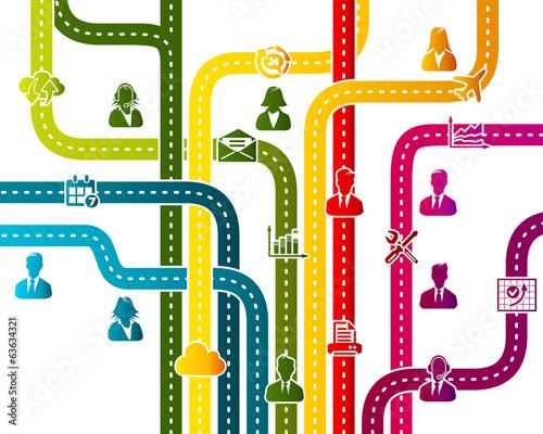 Fotografía  Business work flow organization