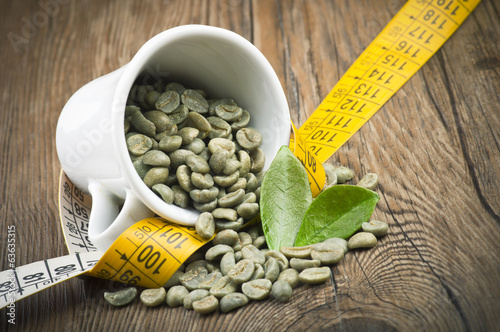 Fotomural lose weight by drinking raw green coffee
