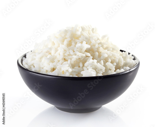Fotografija bowl of boiled rice