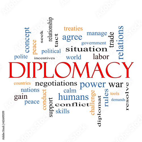 Fotografía  Diplomacy Word Cloud Concept