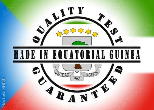 Fotografía  Quality test guaranteed stamp