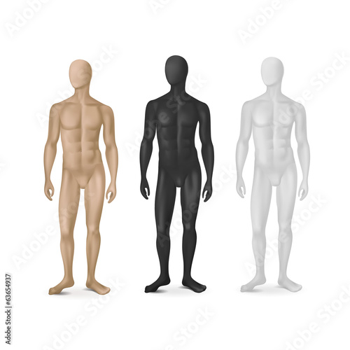 Photo Vector Set of Three Male Mannequins