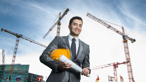 Successful engineer or architect