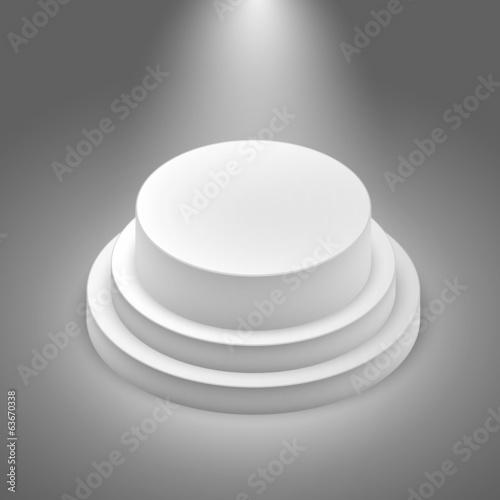 Foto op Canvas Licht, schaduw White empty stage