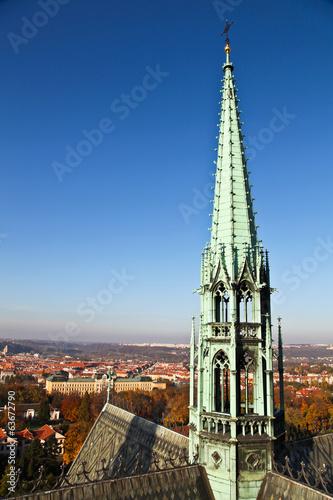 Fotografie, Obraz  Roof top of St. Vitus Cathedral at Prague castle