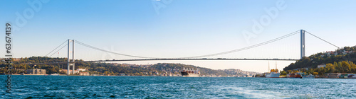 Canvas-taulu the bridge on Bosphorus (panorama)