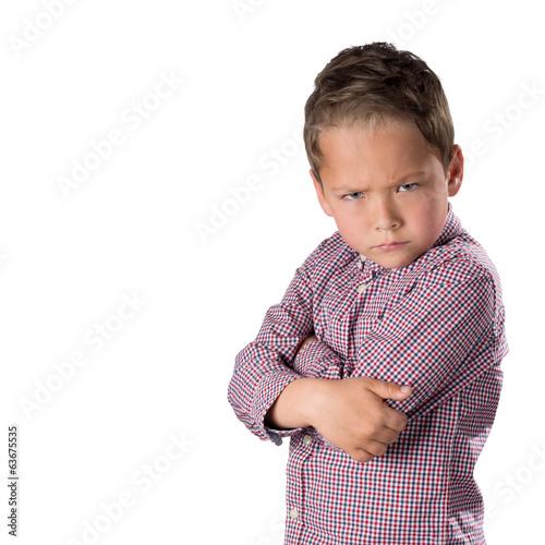 Fotografia, Obraz  Verärgerter Junge, freigestellt