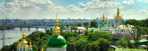 Printed kitchen splashbacks Kiev panorama of Kiev