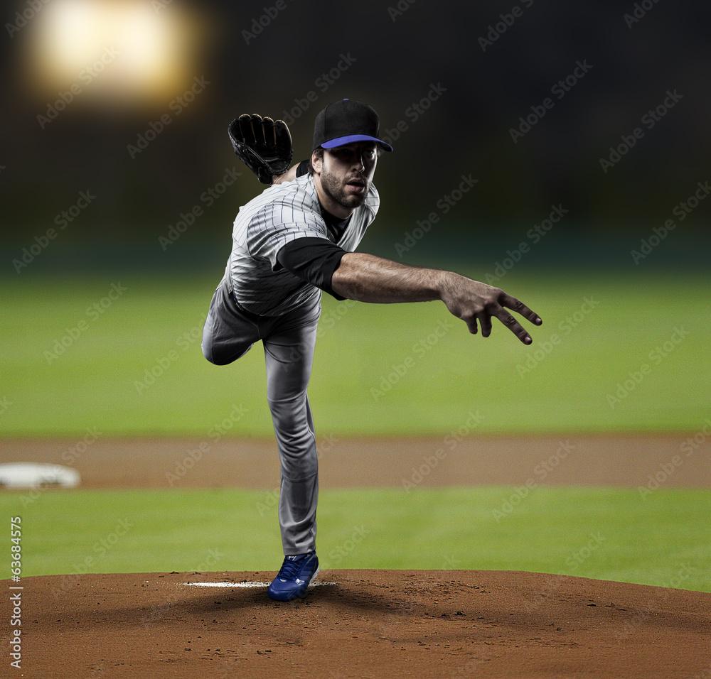 Fototapety, obrazy: Pitcher Baseball Player