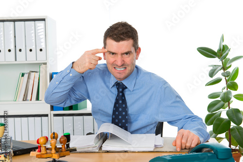 Fotografie, Obraz  angry businessman