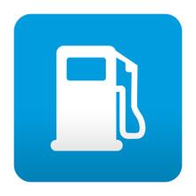 Etiqueta Tipo App Azul Simbolo...