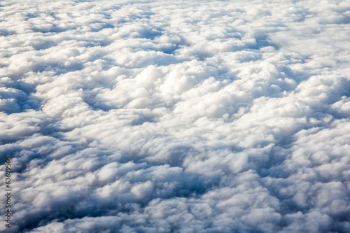 Cloud formations seen from the plane