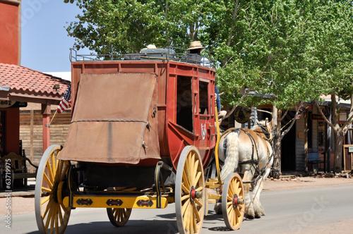 Obraz na plátne Stagecoach in Tombstone, Arizona
