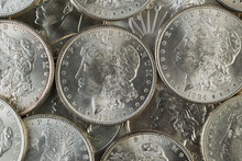 Many American Silver Dollars