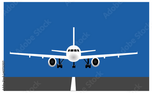 Poster Avion à Moteur Aereo su pista