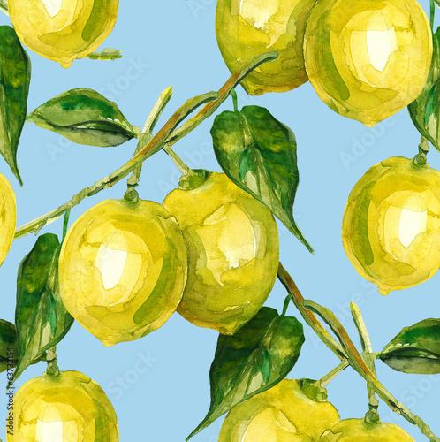 Cytrynowy bez szwu patten