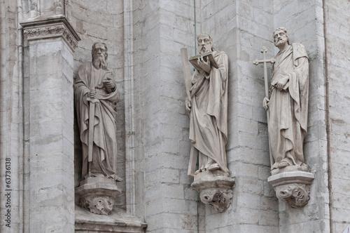 Keuken foto achterwand Antwerpen Skulpturen an der Liebfrauenkathedrale in Antwerpen