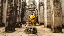 Buddha At Bayon Temple, Angkor...