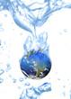 weltkugel in wasser keine erderwärmung