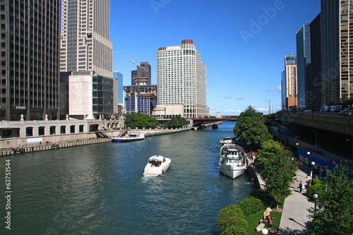 Foto op Plexiglas Chicago Chicago river