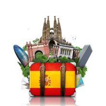 Spain, Landmarks Madrid And Ba...