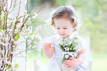 Beautiful Toddler Girl In Whit...