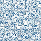 Abstract swirly waves, seamless pattern