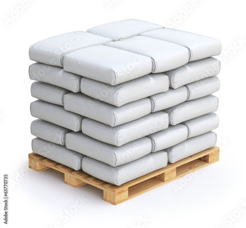 Fotografia White sacks