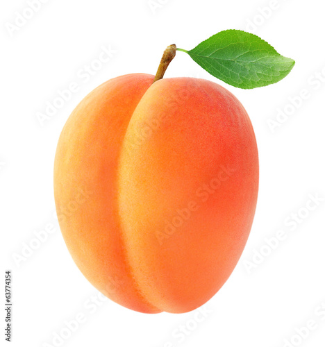 Foto Isolated apricot