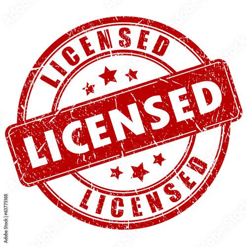 Obraz Licensed stamp - fototapety do salonu