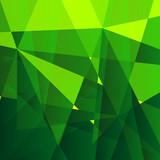Green polygon background
