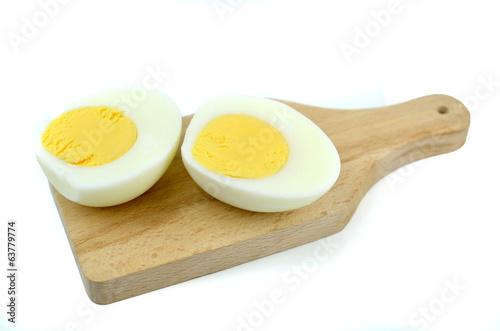 Fototapeta jajko na desce obraz