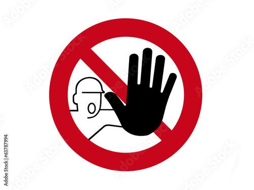 Fotografie, Obraz Warnschild Zutritt verboten - nicht anfassen
