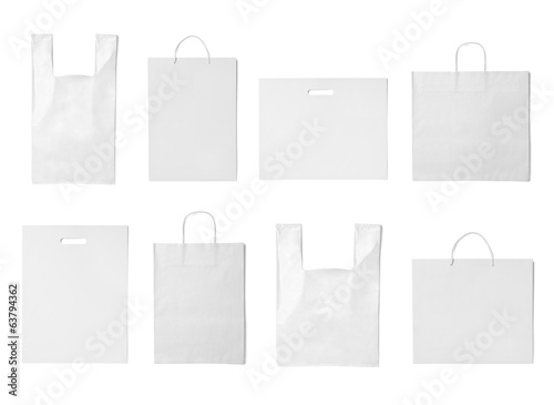white bag template plastic paper shopping - Buy this stock photo and ...