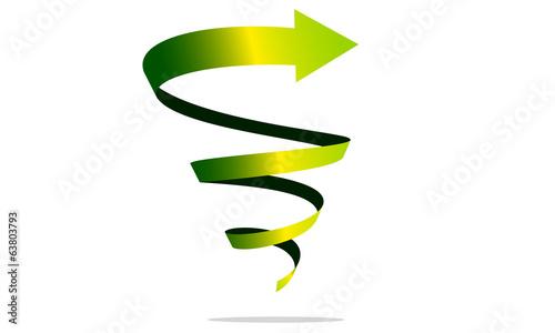 Foto op Plexiglas Spiraal freccia spirale