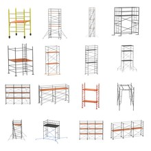 Realistic 3d Render Of Scaffolding Set
