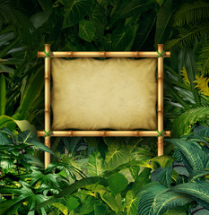 Fototapeta Jungle Sign
